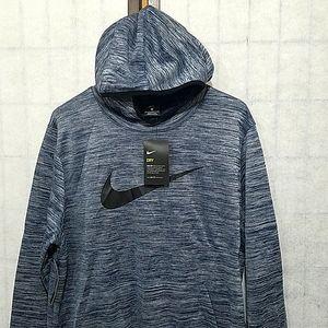 Nike Dri-FIT logo Blue sweatshirt with hoodie L